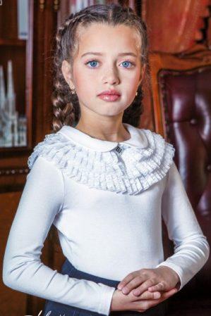 "Блузка школьная ""Мия"" трикотажная белая"
