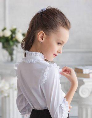 "Блузка школьная ""Ника"" белая"