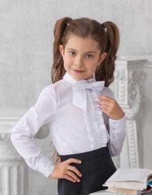 """Блузка школьная """"Фрося"""" белая"""