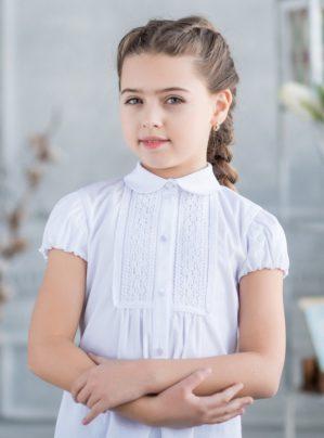 "Блузка школьная ""Лия"" белая"