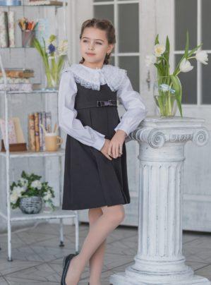 "Сарафан школьный ""Светлана"" серый"