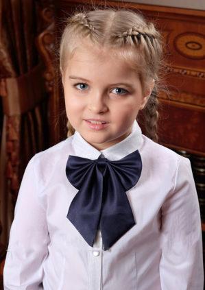 Галстук-бант синий для девочек