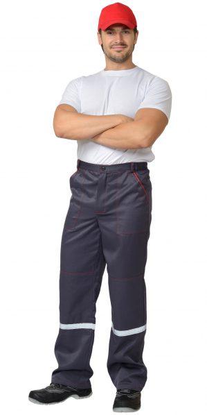 """Костюм рабочий """"Механик"""" куртка+брюки, серый с красным"""