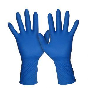 Перчатки резиновые синие