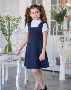 """Сарафан школьный """"Барышня"""" синий"""