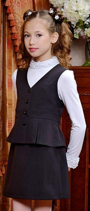 Костюм-двойка (жилет+юбка)
