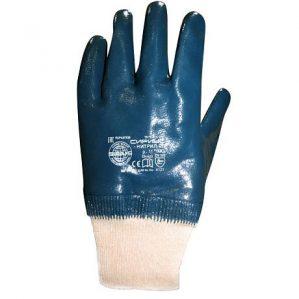 Перчатки нитриловые с трикотажными манжетами