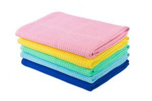 Полотенце вафельное цветное