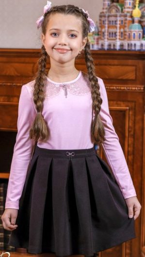 "Юбка школьная ""Римма"" чёрная"