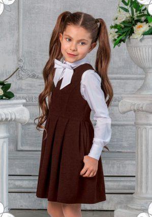 Сарафан школьный коричневый