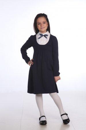 Платье трикотажное  с имитацией блузки