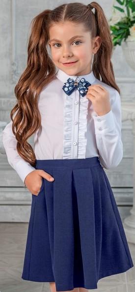 Юбка школьная синяя