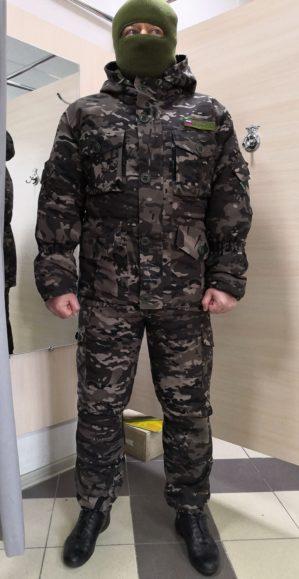 """Костюм """"Горка"""", арт. 5589, Премиум класс, куртка+брюки, цвет коричневый кмф, армированная ткань+термофин+термофольга, зима"""