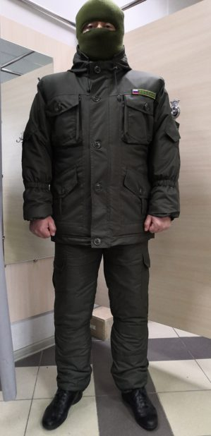 "Костюм ""Горка Геркулес"", арт. 5530, Премиум класс, куртка+брюки, цвет хаки, термофин+термофольга, зима"