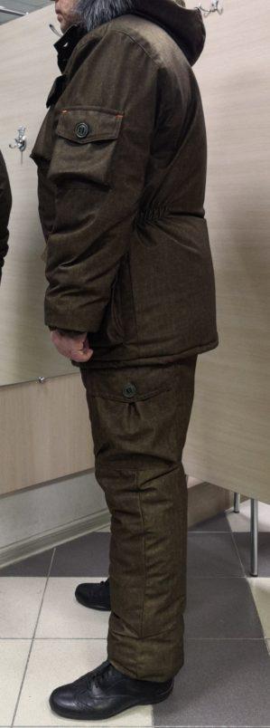 """Костюм """"Горка Рысь"""", куртка+п/к, цвет хаки коричневый, термофин+термофольга, зима"""