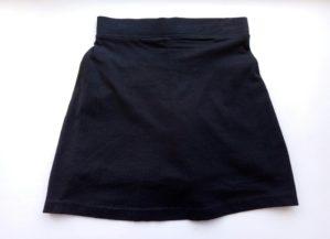 Юбка-шорты трикотажные чёрные