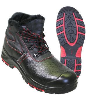 """Ботинки """"Прогресс"""" кожаные, натуральный мех"""