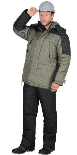 """Куртка рабочая """"Метеор"""" оливковая с чёрным"""