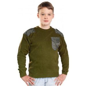 Джемпер форменный детский, круглая и V-образная горловина