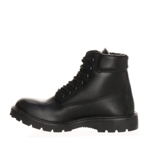 Ботинки кожаные, искусственный мех