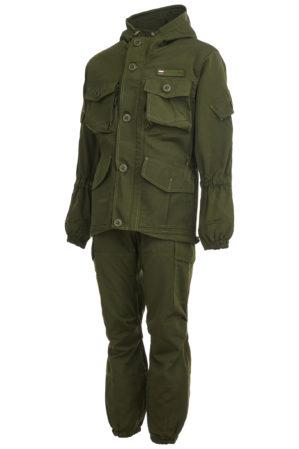 "Костюм ""Горка-Кордон"", арт. 4877, Премиум класс, куртка+брюки, цвет олива, армированная ткань, термофлис+термофин, зима"