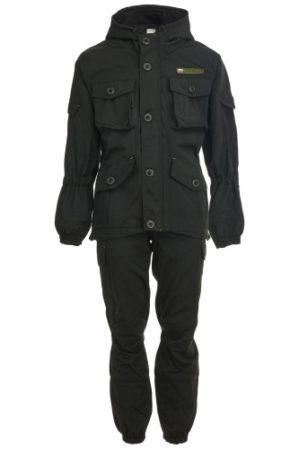"""Костюм """"Горка-Блэк"""", Премиум класс, куртка+брюки, демисезонный, армированная ткань, утеплитель: термофлис"""