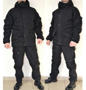 """Костюм """"Горка-Блэк"""", Премиум класс, куртка+брюки, демисезонный, армированная ткань"""