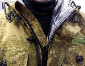 """Костюм """"Горка-Степь"""", Премиум класс, коричнево-землистый+хаки, термофольга+термофин, армированная ткань, зима"""