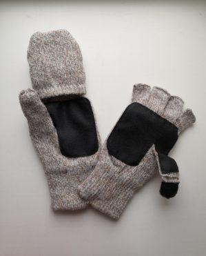 Перчатки-варежки с откидным клапаном на липучке