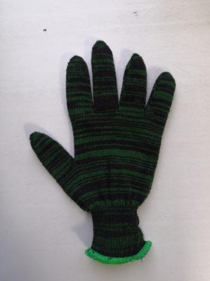 Перчатки п/ш двойные черно-зелёные