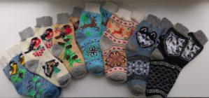 Носки взрослые шерстяные