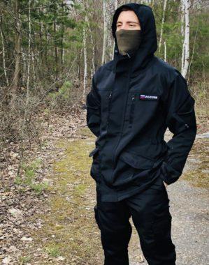 """Костюм арт. 5610 """"Горка НЭРО"""" чёрный, зима, куртка+брюки, армированная ткань, термофин+термофлис"""