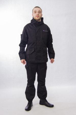 """Костюм """"Горка НЭРО"""" чёрный, зима, куртка+полукомбинезон, армированная ткань, термофин, термофольга"""
