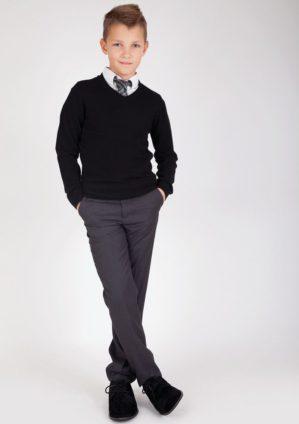 Стильные подростковые серые брюки