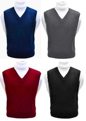 Трикотажный жилет полушерсть синий, серый, чёрный, бордовый