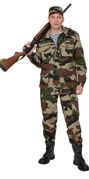 Костюм куртка+брюки, армированная ткань, КМФ нато