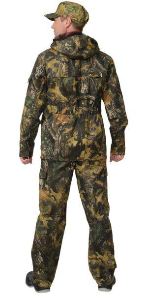 Костюм куртка+брюки, армированная ткань, КМФ тёмный лес