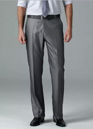 Стильные подростковые классические брюки серые