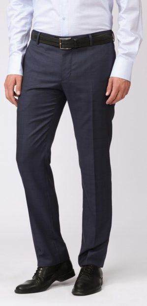 Стильные подростковые классические брюки синие