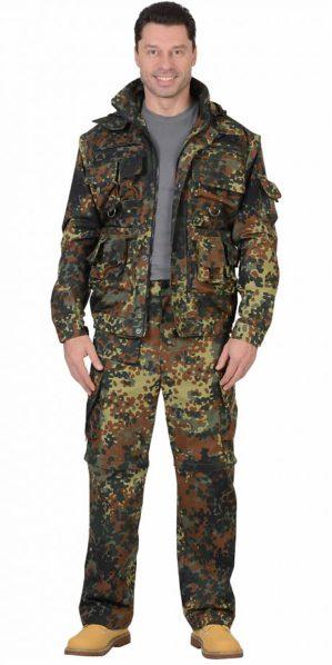 "Костюм ""Мангуст"" куртка+брюки КМФ флектарн, ткань армированная"