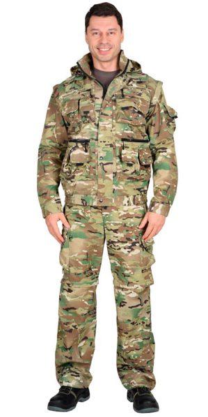 Костюм куртка+брюки КМФ Мультикам, армированная ткань