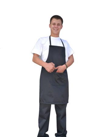 Фартук повара чёрный