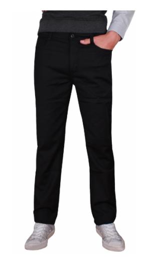 Стильные подростковые чёрные брюки
