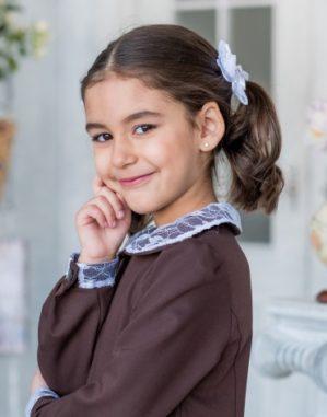 Платье школьное трикотажное серое