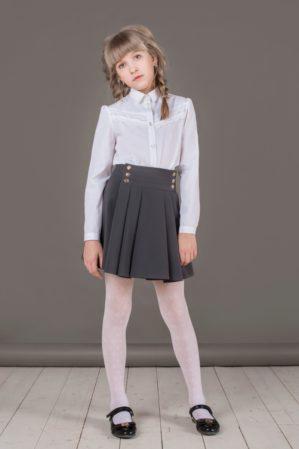 Юбка школьная серая