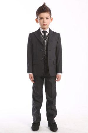 Костюм школьный серый (пиджак+брюки)