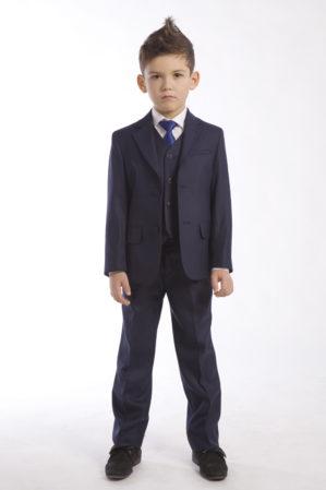 Костюм школьный тёмно-синий (пиджак+брюки)