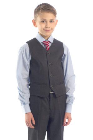 Костюм школьный серый (жилет+брюки)