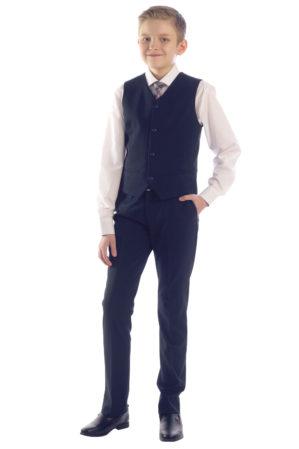 Костюм школьный тёмно-синий (жилет+брюки)