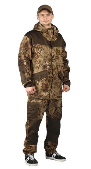 """Костюм """"Горка"""" куртка+брюки, кмф питон коричневый, тёмный хаки"""